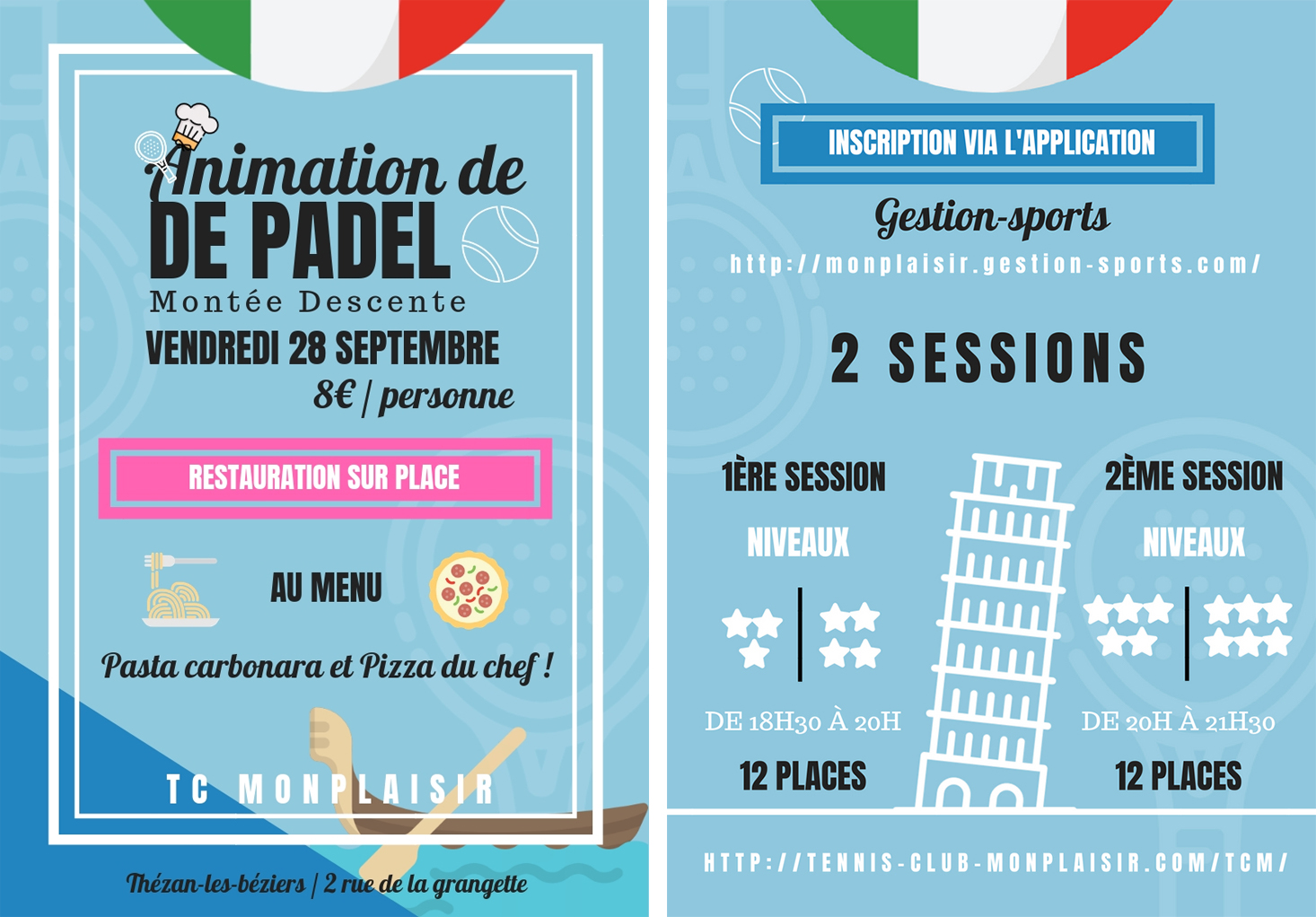 Animation padel